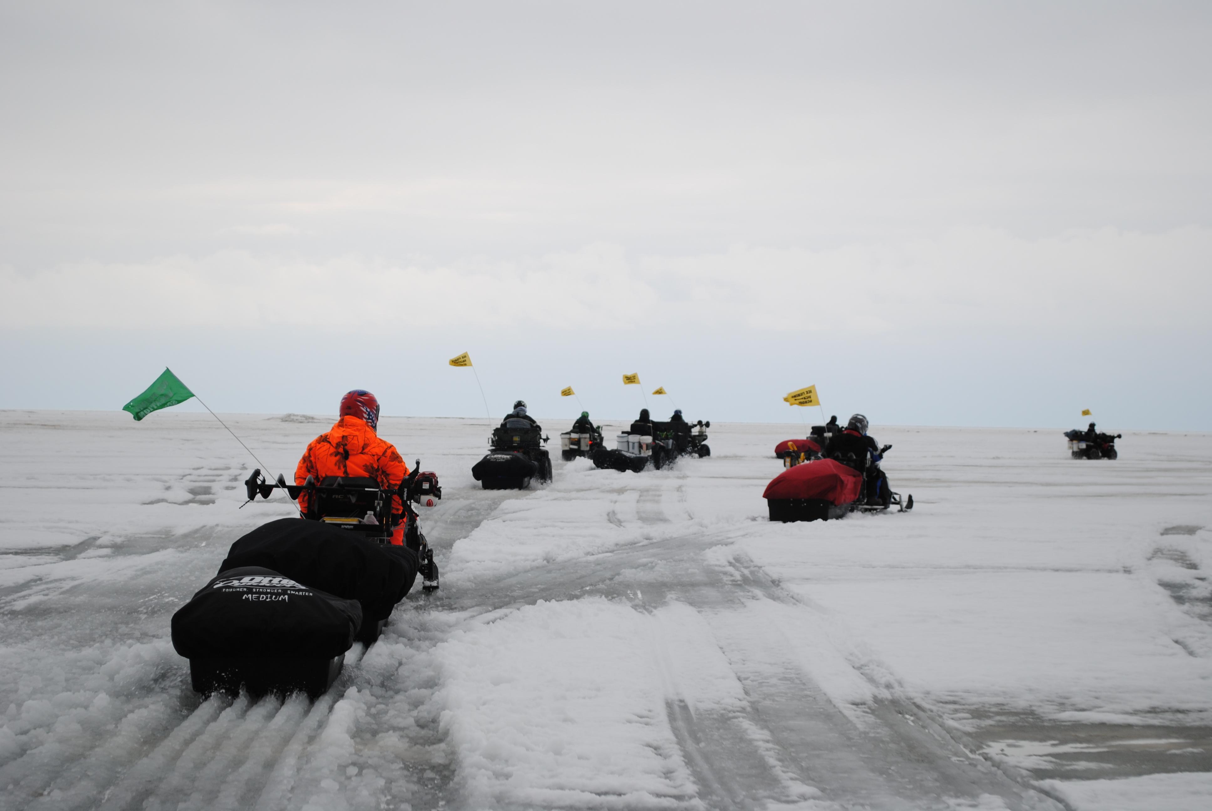 Saginaw bay ice fishing for Best shore fishing in michigan