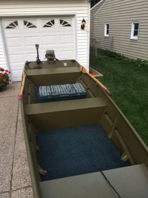 1436 jon w 15 hp michigan sportsman online michigan for Fish finder for jon boat
