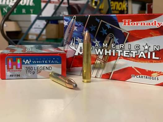 Hornady  350 Legend American Whitetail 170 grain Soft Point