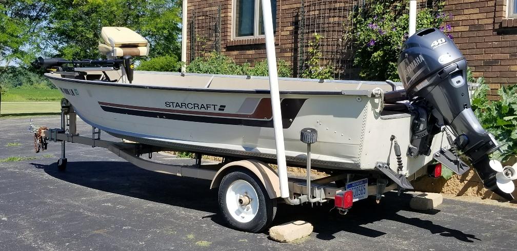 1984 16 foot starcraft fishing boat 7000 obo michigan for 16 foot aluminum boat motor size