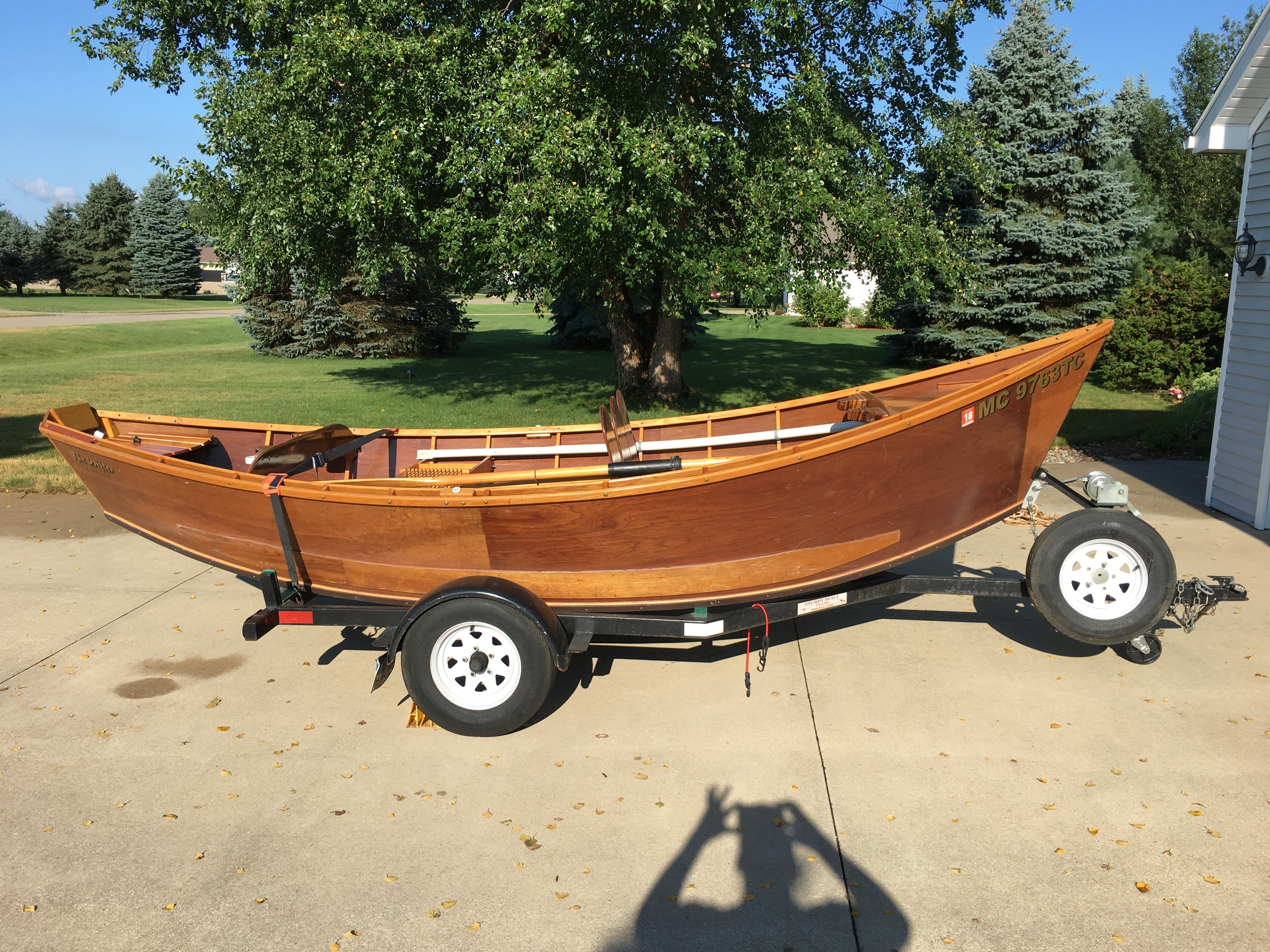 Wooden drift boat for sale michigan sportsman online for Drift boat fishing