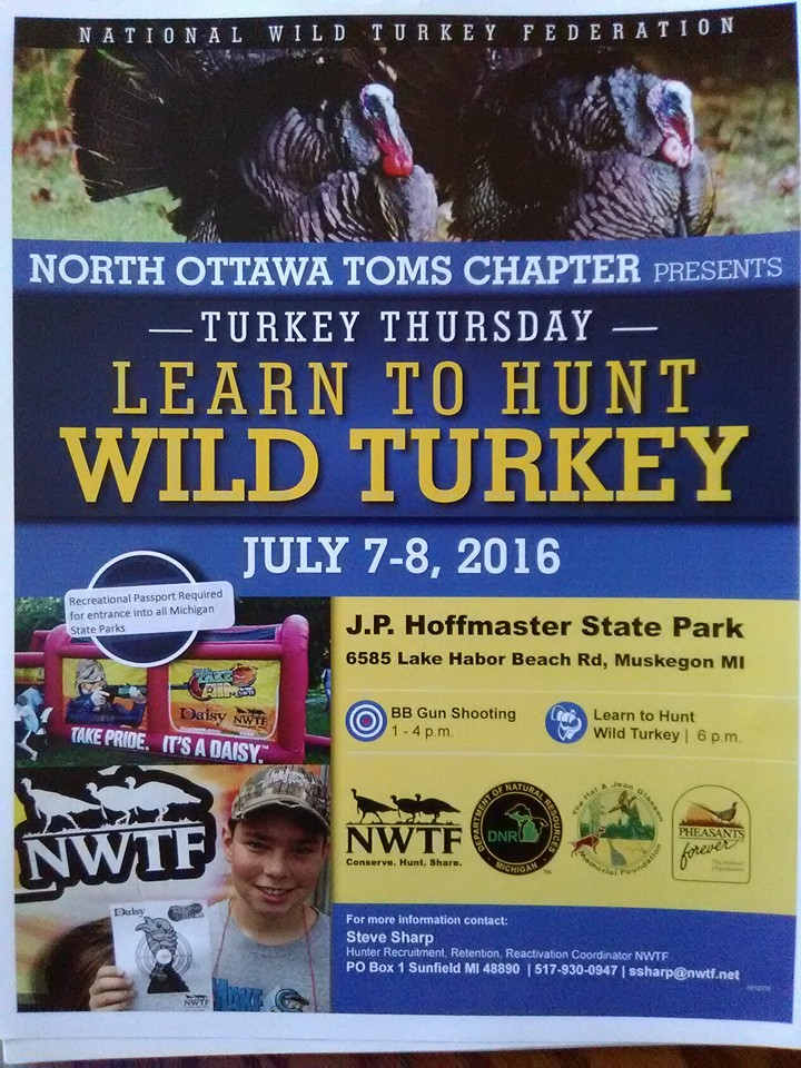 Wild Turkey Workshop @ PJ Hoffmaster Park, Muskegon