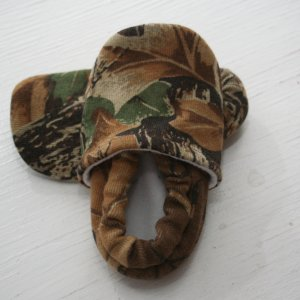 Handmade Camouflage baby booties toddler shoes.  SWAG booties, every kid sh