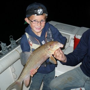 Sturgeon fishing 8-19-12