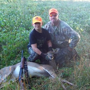 Eric & Grandpa With Eric's First Deer 2009