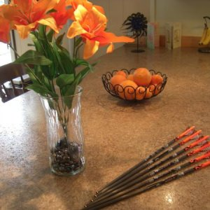 custom arrows. I love orange!