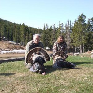 Wife and I with Black Hills birds, 2009