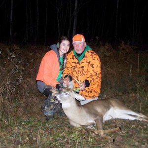 happy girl, dead buck and a proud pa... come on how could there be a better photo ;-)