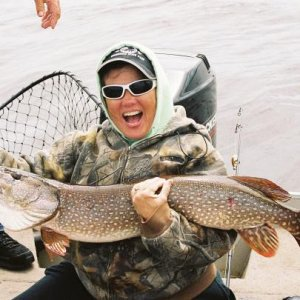 Mom's first pike