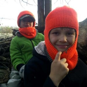 boys in ground blind