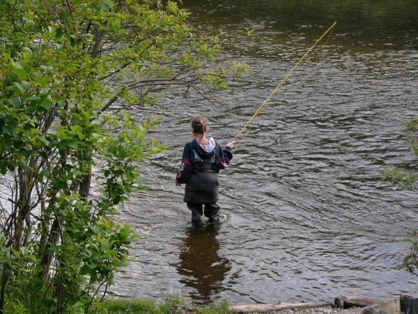 My 10 year old learning to fly fish michigan sportsman for Learning to fly fish